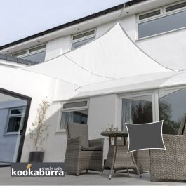 Voile d'Ombrage Blanc Rectangle 3x2m - Imperméable - 160g/m2 - Kookaburra®