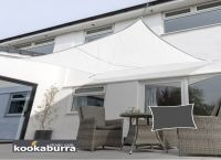 Voile d'Ombrage Blanc Rectangle 3x2m - Imperméable - 160g/m2 - Kookaburra