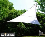 Voile d'Ombrage Blanc Triangle Rectangle 4,2m - Imperméable - 160g/m2 - Kookaburra