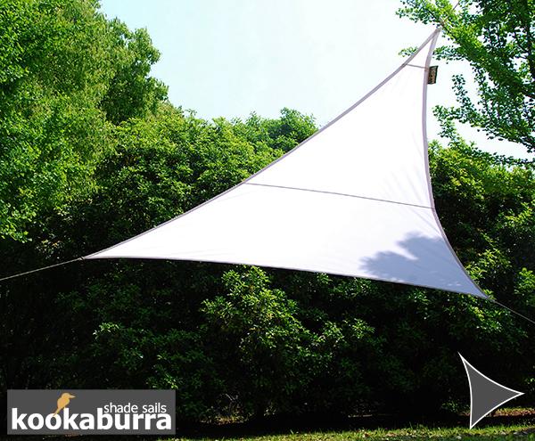 voile d 39 ombrage blanc triangle 3m d perlant 140g m2 kookaburra 16 99. Black Bedroom Furniture Sets. Home Design Ideas