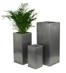 Cache pots metal, jardinières zinc, cachepots aluminium et ...