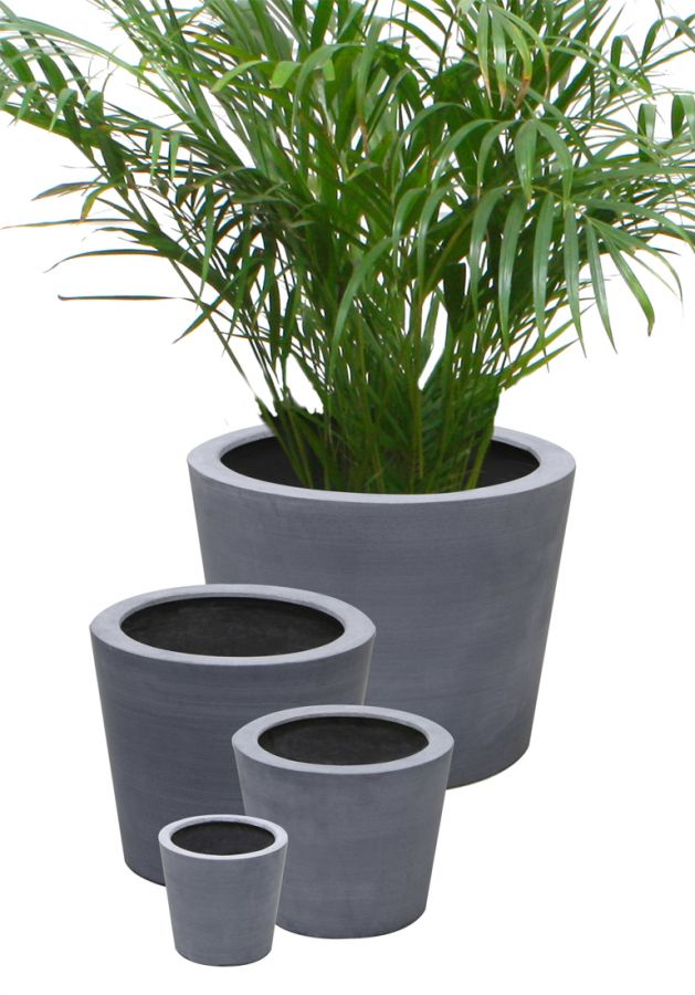 30cm petit cache pots polystone ronds 34 99. Black Bedroom Furniture Sets. Home Design Ideas