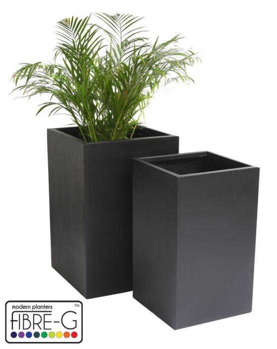 cache pot cubique noir petit 109 99. Black Bedroom Furniture Sets. Home Design Ideas