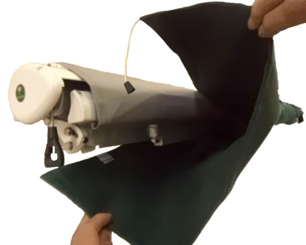 sac de protection pour store banne vert 3 5m velcros 28 99. Black Bedroom Furniture Sets. Home Design Ideas