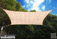 Voile d'Ombrage Ivoire Motif Rose Rectangle 4x3m - Imperméable - 160g/m2 - Kookaburra