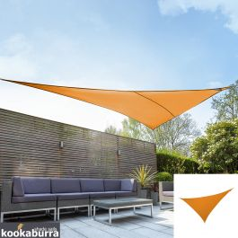 Voile d'Ombrage Orange Triangle à angle droit 6m - Imperméable - 160g/m2 - Kookaburra®