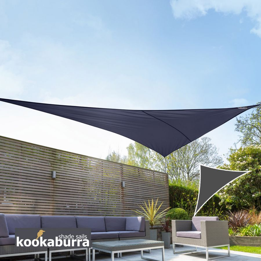 Voile d'Ombrage Bleu Triangle Rectangle 4,2m - Imperméable - 160g/m2 - Kookaburra®