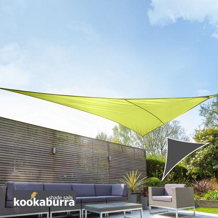 voile d 39 ombrage vert citron triangle rectangle 4 2m. Black Bedroom Furniture Sets. Home Design Ideas