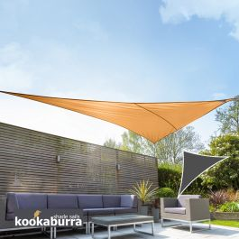 Voile d'Ombrage Orange Triangle Rectangle 4,2m - Imperméable - 160g/m2 - Kookaburra®