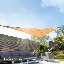 Voile d'Ombrage Abricot Triangle Rectangle 4,2m - Imperméable - 160g/m2 - Kookaburra®
