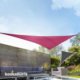 Voile d'Ombrage Rose Triangle Rectangle 4,2m - Imperméable - 160g/m2 - Kookaburra®