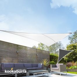 Voile d'Ombrage Blanc Triangle Rectangle 4,2m - Imperméable - 160g/m2 - Kookaburra®