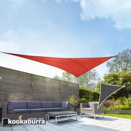 Voile d'Ombrage Rouge Triangle Rectangle 4,2m - Imperméable - 160g/m2 - Kookaburra®