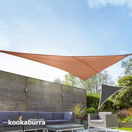 Voile d'Ombrage Terracotta Triangle Rectangle 4,2m - Imperméable - 160g/m2 - Kookaburra®