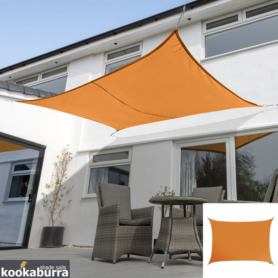 Voile d'Ombrage Orange Rectangle 3x2m - Imperméable - 160g/m2 - Kookaburra®