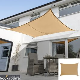 Voile d'Ombrage Abricot Rectangle 5x4m - Imperméable - 160g/m2 - Kookaburra®