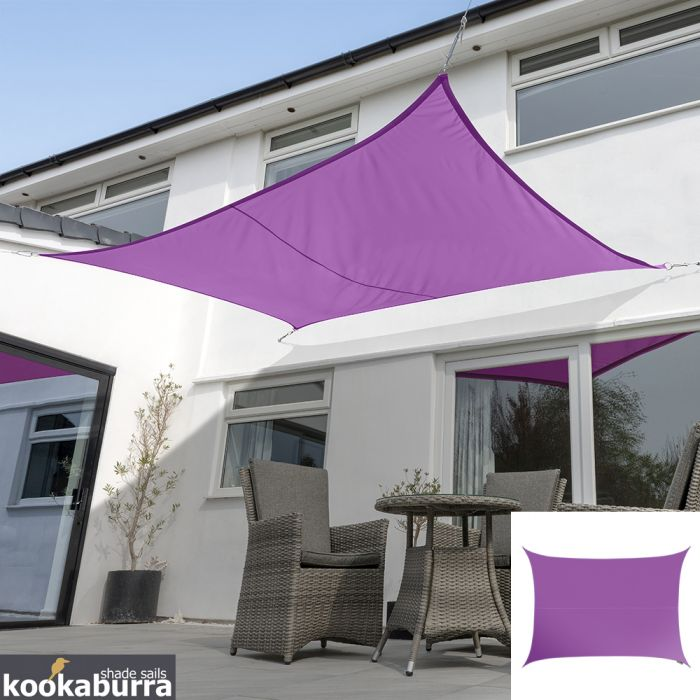 Voile d'Ombrage Violet Rectangle 3x2m - Imperméable - 160g/m2 - Kookaburra®