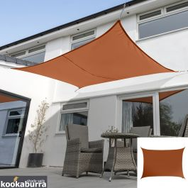 Voile d'Ombrage Terracotta Rectangle 3x2m - Imperméable - 160g/m2 - Kookaburra®