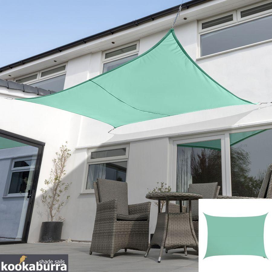 Fixation Voile D Ombrage voile d'ombrage turquoise rectangle 5x4m - imperméable - 160g/m2 -  kookaburra®