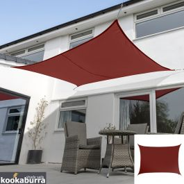 Voile d'Ombrage Bordeaux Rectangle 4x3m - Imperméable - 160g/m2 - Kookaburra®
