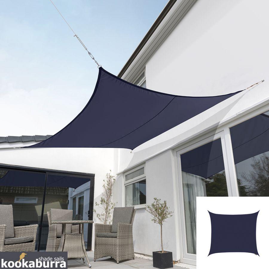 voile d 39 ombrage bleu carr 3m ajour e 320g m2. Black Bedroom Furniture Sets. Home Design Ideas