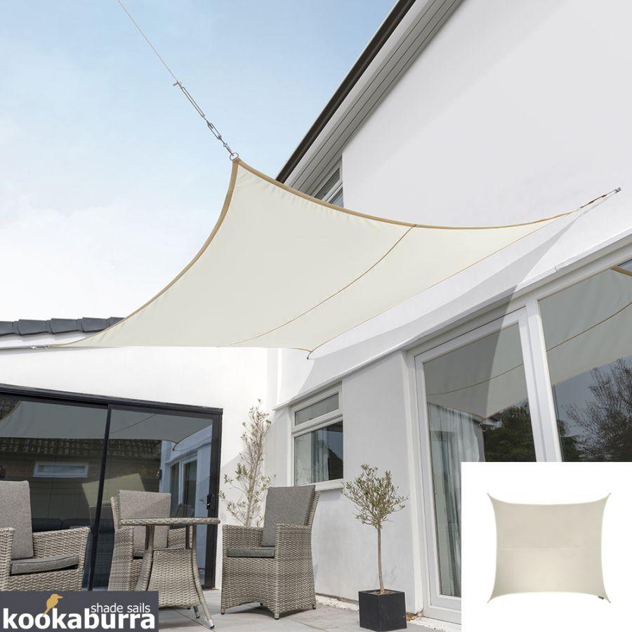 Toile Ombrage Au Metre voile d'ombrage ivoire carré 2m - déperlant - 140g/m2 - kookaburra®