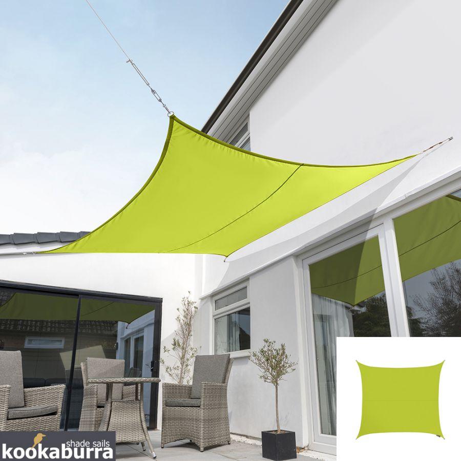 Voile D Ombrage Imperméable voile d'ombrage vert citron carré 3,6m - imperméable - 160g/m2 - kookaburra®