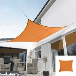 Voile d'Ombrage Orange Carré 5,4m - Imperméable - 160g/m2 - Kookaburra®