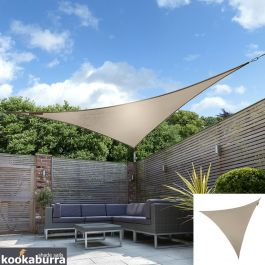 Voile d'Ombrage Taupe Triangle 5m - Imperméable - 160g/m2 - Kookaburra®