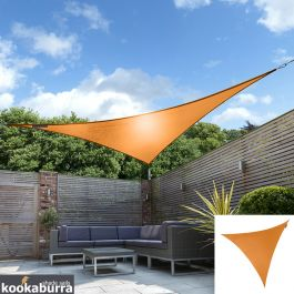 Voile d'Ombrage Orange Triangle 2m - Déperlant - 140g/m2 - Kookaburra®