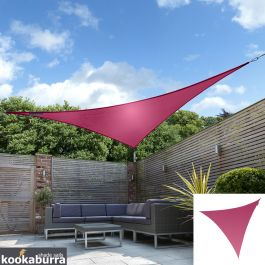 Voile d'Ombrage Rose Triangle 5m - Imperméable - 160g/m2 - Kookaburra®