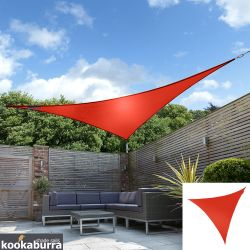 Voile d'Ombrage Rouge Triangle 3m - Imperméable - 160g/m2 - Kookaburra®