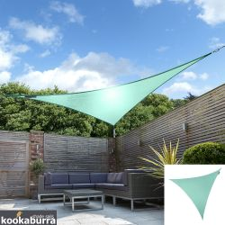 Voile d'Ombrage Turquoise Triangle 3m - Imperméable - 160g/m2 - Kookaburra®