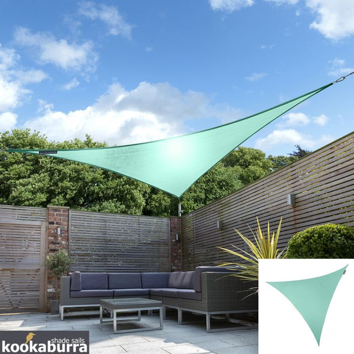 Voile d'Ombrage Turquoise Triangle 3,6m - Imperméable - 160g/m2 - Kookaburra®