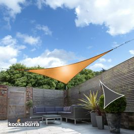 Voile d'Ombrage Orange Triangle 5m - Déperlant - 140g/m2 - Kookaburra®
