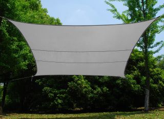 Voile d'Ombrage Argenté Rectangle 5x4m - Imperméable - 160g/m2 - Kookaburra®