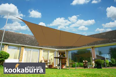 Voile d'Ombrage Mocha Rectangle 4x3m - Imperméable - 160g/m2 - Kookaburra®