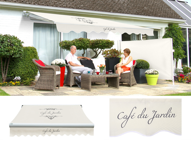 store banne monobloc manuel café du jardin - ivoire - 4m x 3m 459,99 €