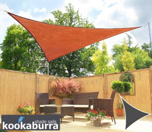 Voile d'Ombrage Terracotta Triangle Rectangle 4,2m - Ajourée - 320g/m2 - Kookaburra®
