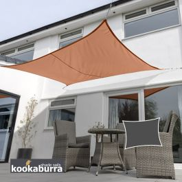 Voile d'Ombrage Terracotta Rectangle 6x5m - Imperméable - 160g/m2 - Kookaburra®