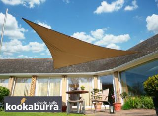 Voile d'Ombrage Mocha Triangle Rectangle 4,2m - Imperméable - 160g/m2 - Kookaburra®