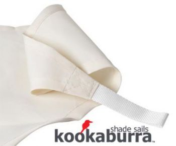Voile d'Ombrage Ivoire Rectangle 4x3m - Déperlant - 140g/m2 - Kookaburra