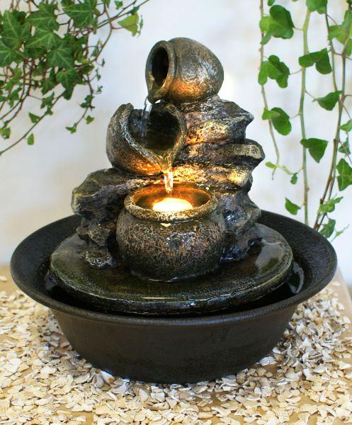 Fontaine d 39 int rieur zen vase led relaxantes 47 99 - Fontaine interieur zen ...