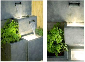 fontaine d 39 ext rieur cascade jardini re avec lumi res 299 99. Black Bedroom Furniture Sets. Home Design Ideas