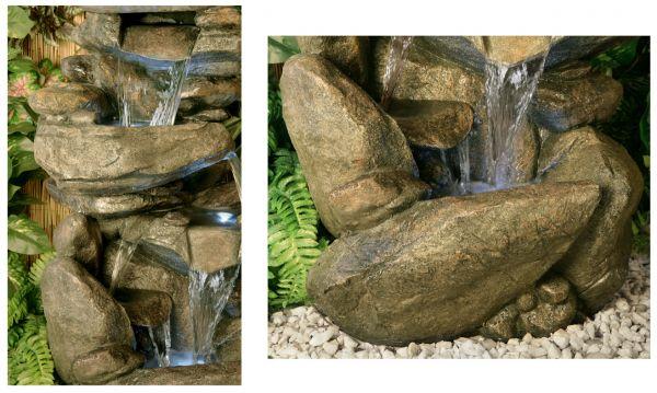 fontaine d 39 ext rieur cascade en pierre thornton lumi res 379 99. Black Bedroom Furniture Sets. Home Design Ideas