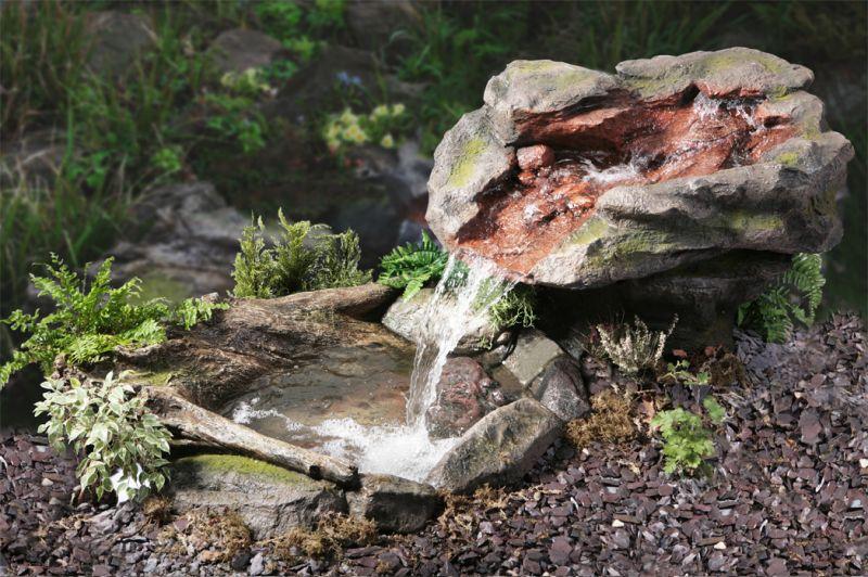 Cascade chute d 39 eau utsuri avec bassin 599 99 - Fuentes de jardin rusticas ...