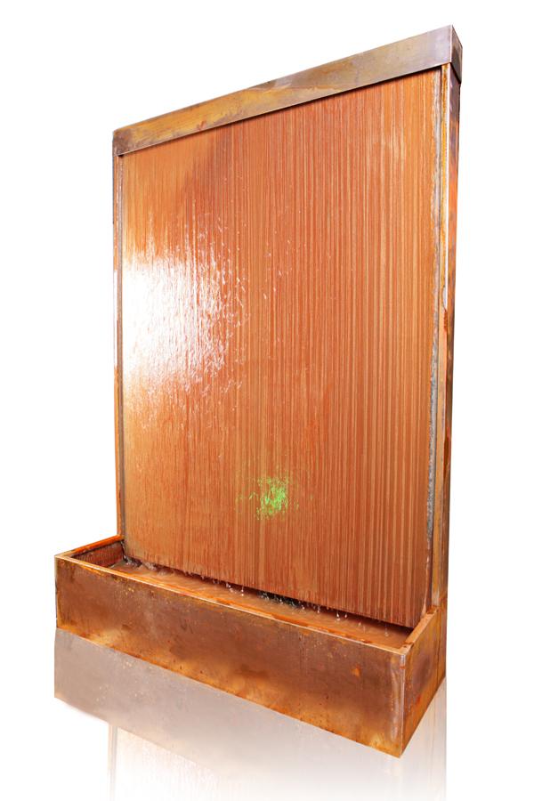 mur d eau en acier corten avec clairage led 175cm 709 99. Black Bedroom Furniture Sets. Home Design Ideas