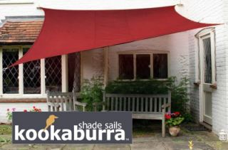 Voile d'Ombrage Bordeaux Rectangle 5x4m - Imperméable - 160g/m2 - Kookaburra®