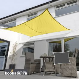 Voile d'Ombrage Jaune Rectangle 5x4m - Déperlant - 140g/m2 - Kookaburra®